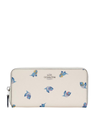 Coach Disney X Accordion Zip Wallet With Cinderella Flying Birds Print
