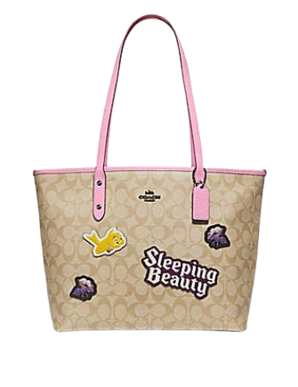 Coach Disney X City Zip Tote In Signature Canvas With Sleeping Beauty