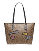 Coach Disney X City Zip Tote In Signature Canvas With Snow White