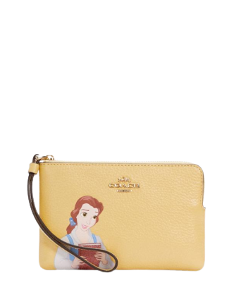 Coach Disney X Coach Corner Zip Wristlet With Belle