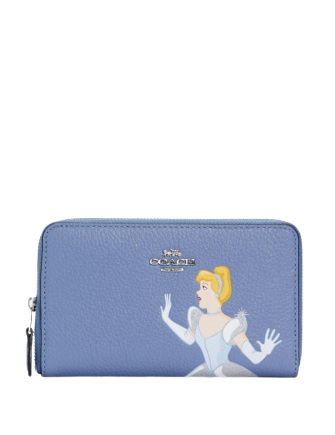 Coach Disney X Coach Medium Id Zip Wallet With Cinderella