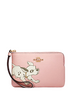 Coach Disney X Corner Zip Wristlet With Dalmatian