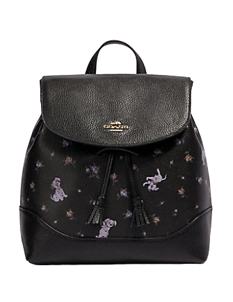 Coach Disney X Elle Backpack With Dalmatian Floral Print