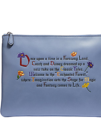 Coach Disney X Large Clutch 30 With Once Upon A Time Print
