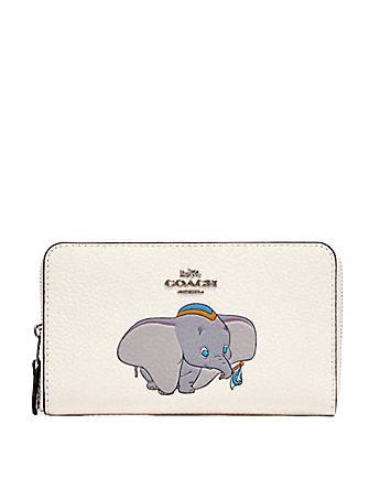 Coach Disney X Medium Zip Around Wallet With Dumbo