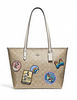 Coach Disney X Minnie Signature Patches City Zip Tote