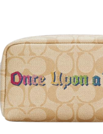 Coach Disney X Small Boxy Cosmetic Case In Signature With Once Upon A Time