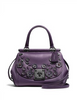 Coach Drifter Top Handle Satchel Willow Floral Applique