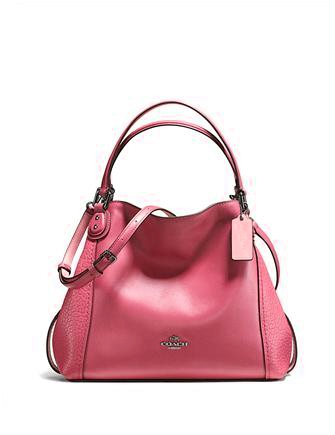 Coach Edie 28 Shoulder Bag in Mixed Leather