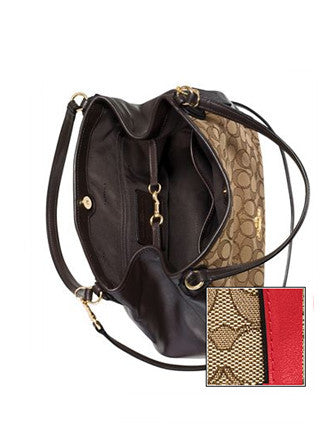 Coach Edie Shoulder Bag 28 in Signature Print Jacquard