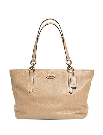 Coach Ellis Pebbled Leather Shoulder Tote