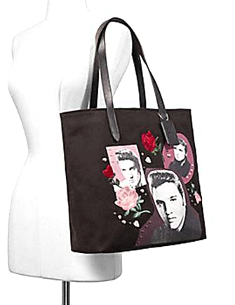 Coach Elvis Collage Canvas Tote