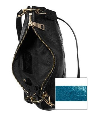 Coach Embossed Horse and Carriage Charley Top Handle Crossbod