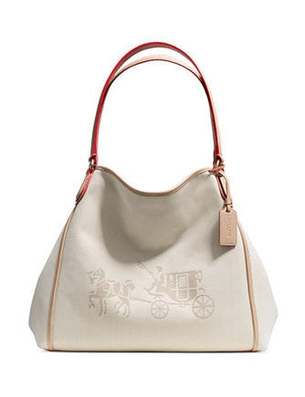 Coach Horse and Carriage Edie Canvas Shoulder Bag