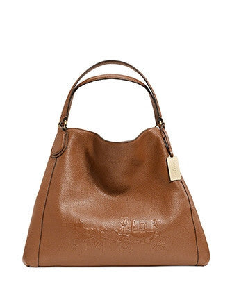 Coach Embossed Horse and Carriage Leather Edie Shoulder Bag