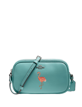 Coach Flamingo Motif 61 60 Leather Crossbody