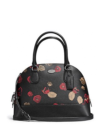 Coach Floral Print Cora Domed Satchel