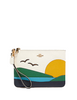 Coach Gallery Pouch With Sunset Motif
