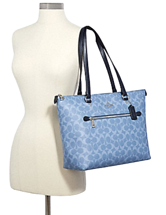 Coach Gallery Tote in Signature Coated Canvas