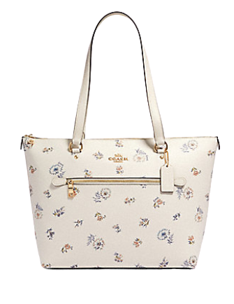 Coach Gallery Tote With Dandelion Floral Print