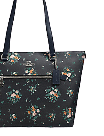 Coach Gallery Tote With Rose Bouquet Print