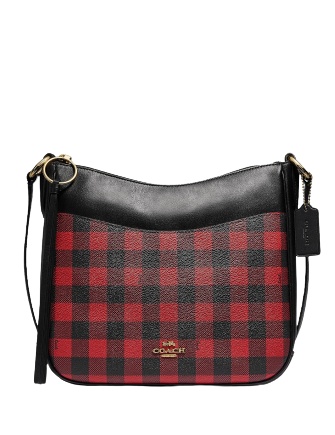 Coach Gingham Print Chaise Crossbody