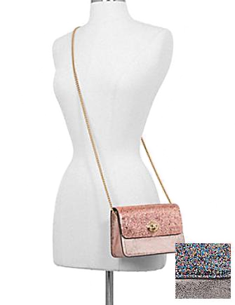 Coach Glitter Metallic Bowery Crossbody