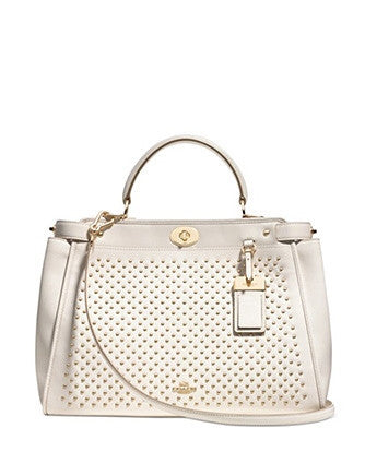Coach Gramercy Top Handle Satchel with Pinnacle Studs in Leather