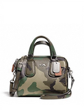 Coach Mini Surrey Satchel in Camo Print Crossgrain Leather