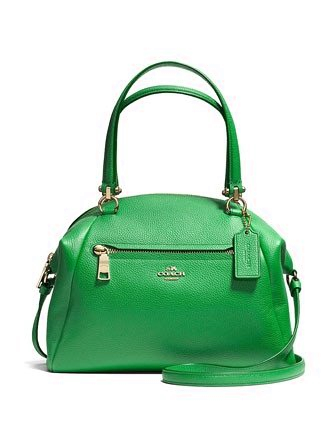 Coach Prairie Zip Top Satchel in Pebble Leather