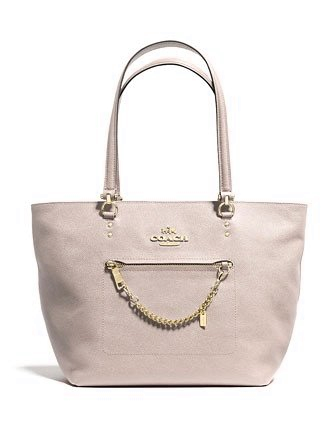 Coach Town Car Shoulder Tote in Crossgrain Leather
