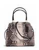 Coach Minetta Python Embossed Leather Satchel