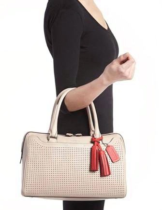 Coach Legacy Haley Perforated Leather Satchel