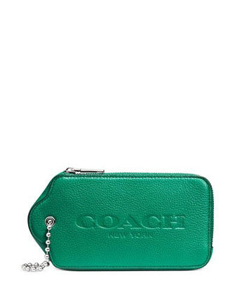 Coach Hangtag Multifunction Coin Purse Case in Leather