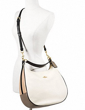 Coach Harley Hobo in Geometric Colorblock Pebble Leather