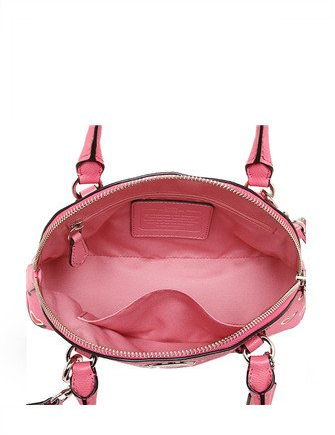 Coach Heart Print Mini Cora Domed Satchel