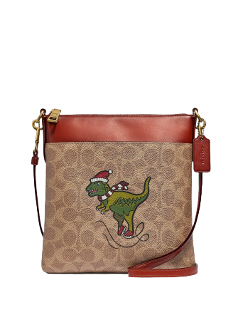 Coach Holiday Rexy Signature Print Crossbody