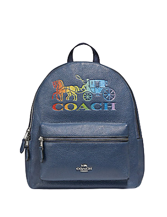 Coach Jes Backpack With Rainbow Horse and Carriage