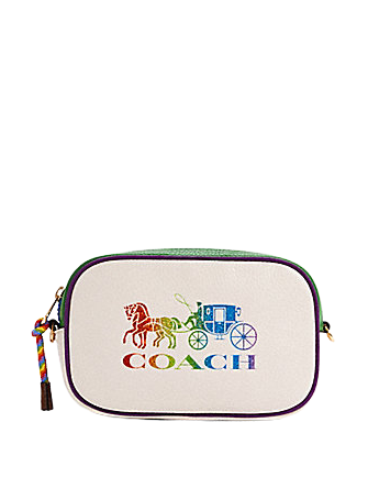 Coach Jes Convertible Belt Bag With Rainbow Horse and Carriage