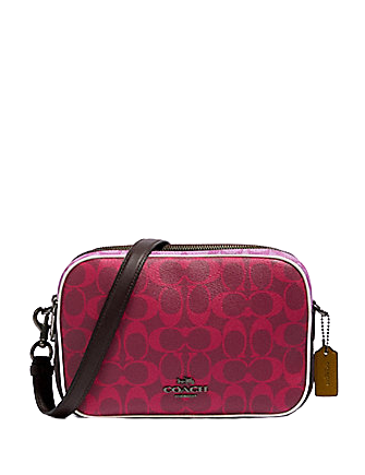 Coach Jes Crossbody in Blocked Signature Canvas
