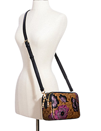 Coach Jes Crossbody in Signature Canvas With Kaffe Fassett Print