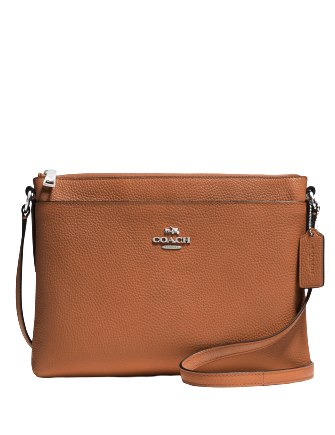 Coach Journal Crossbody in Pebble Leather