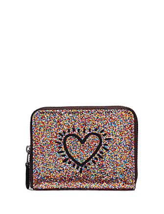 Coach Keith Haring Small Zip Around Wallet