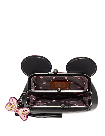 Coach Kisslock Wristlet With Minnie Mouse Ears