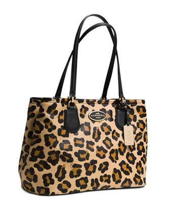 Coach Kitt Carryall In Ocelot Leopard Print Crossgrain Leather