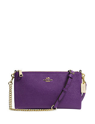 Coach Kylie Saffiano Leather Chain Crossbody