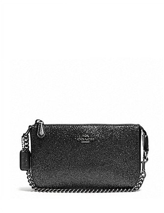 Coach Large Chain Wristlet 19 in Glitter Fabric