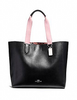 Coach Large Derby Tote with Checker Heart Print Interior