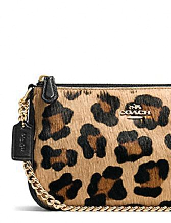 8d24154f8 Coach Large Wristlet 19 in Leopard Print Haircalf | Brixton Baker