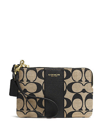 Coach Legacy L-Zip Small Wristlet in Printed Signature